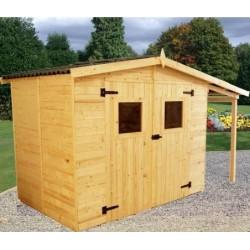 Eden Habrita Wood Garden Shelter 4.08 sqm with 2.08 sqm pyre and floor