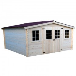 Garden shed in solid wood Habrita 16 m2 with basement