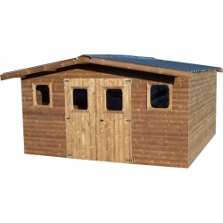 Habrita Solid Wood Garden Shelter 12.3 sqm and 42mm planks