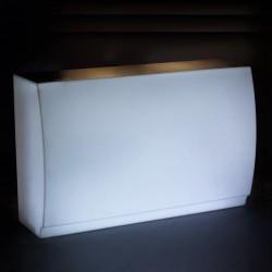 Bar Droit Fiesta Vondom Illuminé Blanc 180 cm