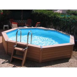 Urban pool Procopi XL wooden 650 x 350