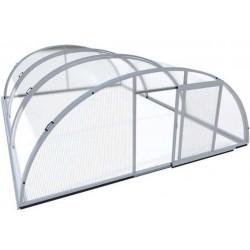 Rifugio per piscina in alluminio e policarbonato 514 x 1066 x 178
