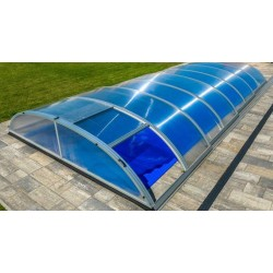 Pool shelter in Aluminum and Polycarbonate 390 x 642 x 75
