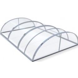 Abri de Piscine en Aluminium et Polycarbonate 320 x 460 x 103
