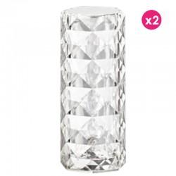 Lot de 2 Lampes Vondom Marquis Cristal Led Rgbw