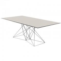 Table Faz Vondom 200x100 piètement inox plateau noir