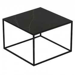 Table basse carrée Suave Vondom Dekton Kelya et pieds noirs 60x60xH40