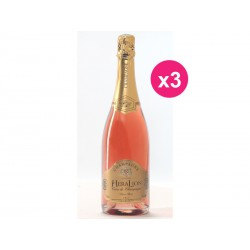 O desejo HeraLion de champanhe Brut Rosé (caixa de 3)