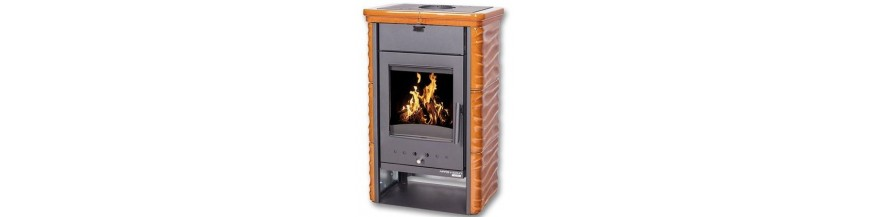 Wood tiled stove