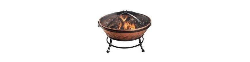 Outdoor wood heating